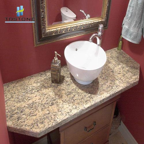 Đá granite nâu ban tích làm bàn lavabo