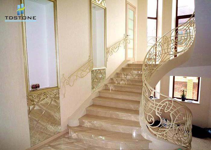 đá cầu thang đá marble nâu 1